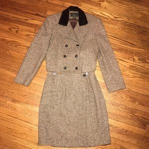 Vintage EXPRESS two-piece Tweed Career Skirt Suit.